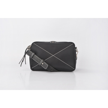 Waterproof Scratch Resistant Black Nylon Handbag For Women