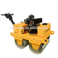 Baby road roller with steel wheel double drum