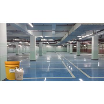 Sky blue epoxy flat coating