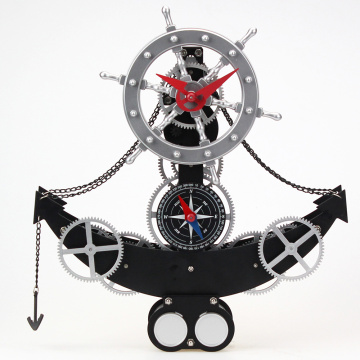 Decorative Anchor shape Gear Table Clock