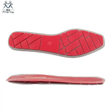 Red square toe sole
