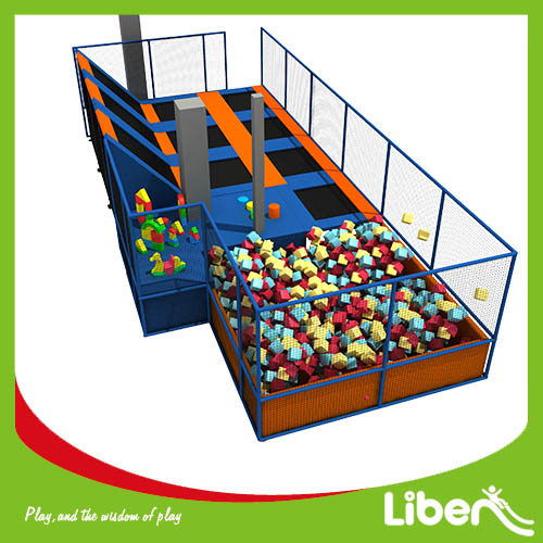 large indoor foam pit trampoline park