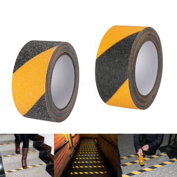 Black And Yellow Safety Grit Tape From Factory