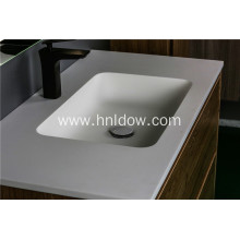 White Modern Design Pure acrylic Undercounter Wash Basins