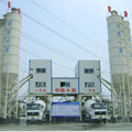 HLS180 stationary concrete mixing plant