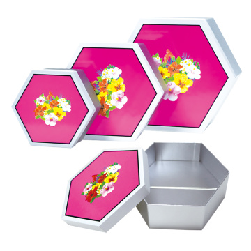 Collapsible Folding Hexagon Hat Packaging Gift paper Box