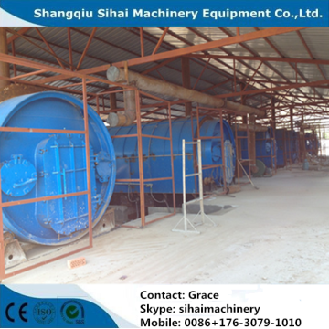High oil output waste rubber pyrolysis plant