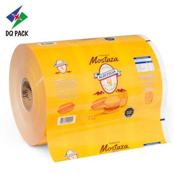 Customed Printed Packaging Film Roll Stock For Mostaza