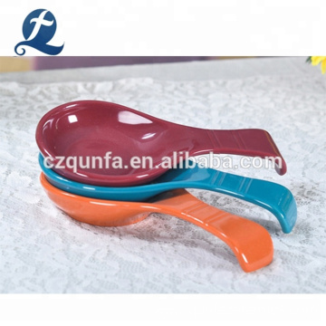 Custom Colorful Ceramic Soup Spoon For Kids