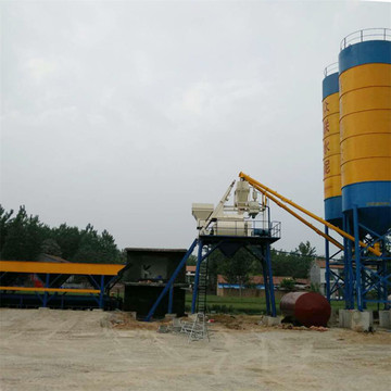 High quality hopper low price concrete batching plant