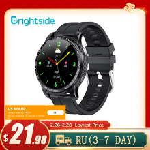 Brightside F7 2021 NEW Smart Watch Men Bluetooth 5.0 Sports Heart Rate Monitor Dial Calls Round Smartwatch Man for Android & IOS