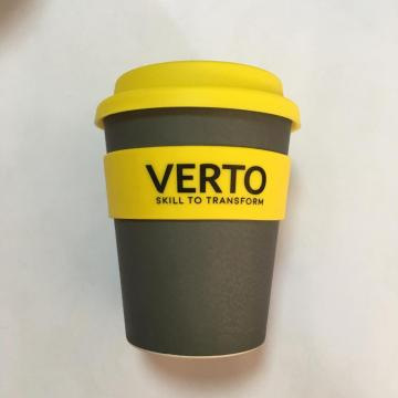Reusable biodegradable eco bamboo fiber coffee cup