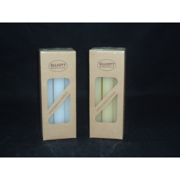 Unscented Household Taper Candles with Cotton Wicks