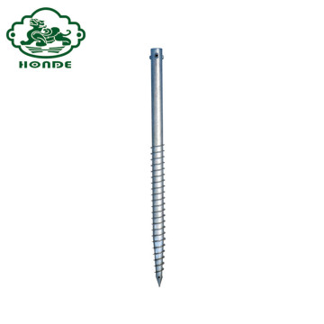 Solar Galvanized Steel Ground Screw Anchor Power Poles