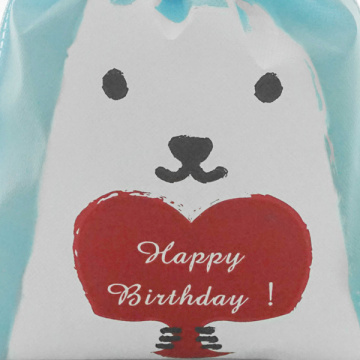 Happy Dog Blue Non-Woven  Birthday Gift Bag