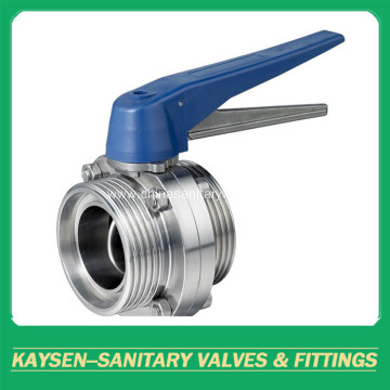 DS Sanitary Butterfly Valves Male end