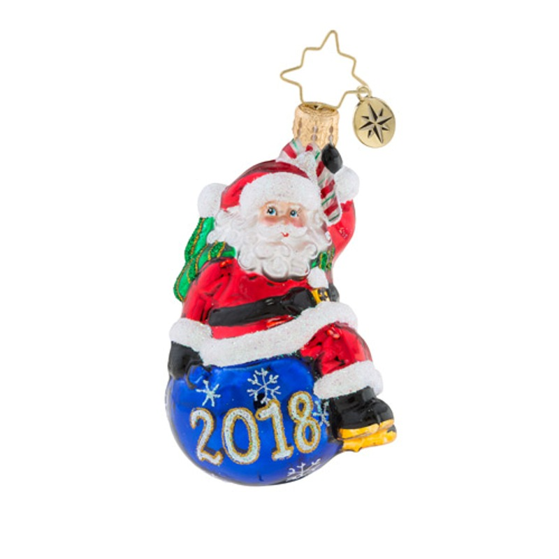 Christopher Radko Glass Ornament Gem Having A Ball 2018 1