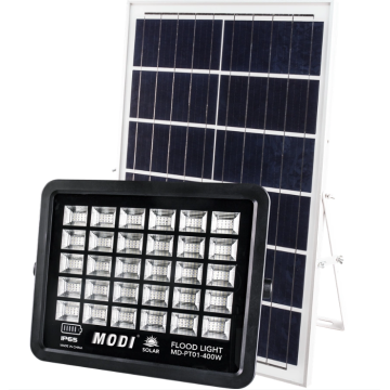 2.5M solar flood light with sensor