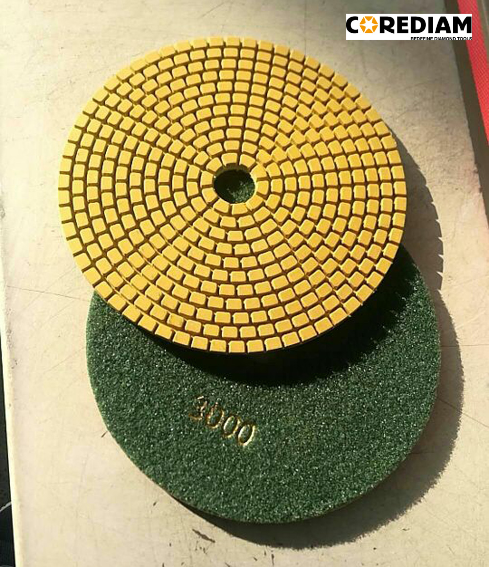 180mm Wet Polishing Pads 999