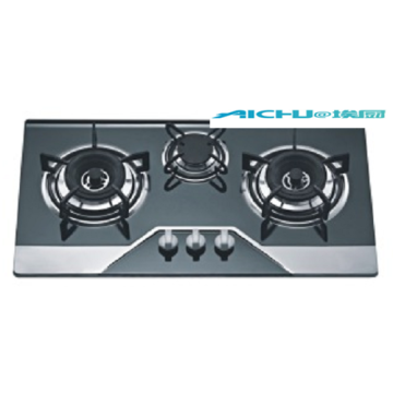 3 Burners Stainless Steel Built in Gas Cooker