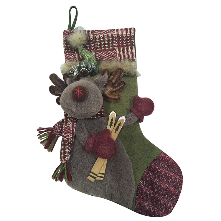 Christmas Reindeer Pattern Stocking