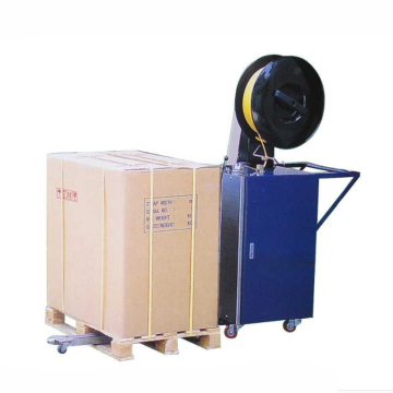 semi automatic mobile pallet strapping machine