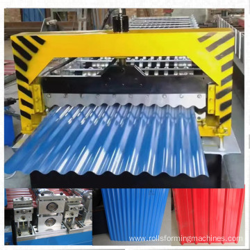 color steel corrugated sheet machine