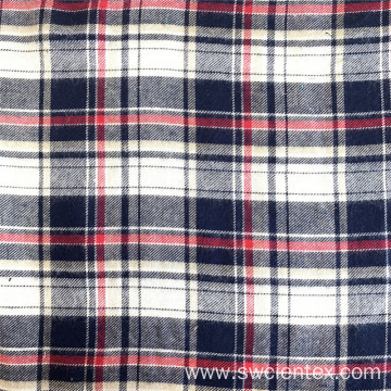 Rayon Brushed Fleece Yarn Dyed Winter Shirt Fabric