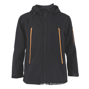 Detachable hood Black Jacket