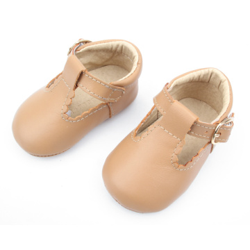 T-Bar Genuine Leather Baby Dress Shoes