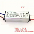 6-36x1W 300mA 350mA 6w 10w 20w 30w 36w LED Driver waterproof IP67 Power Supply Lighting Adapter Transformer