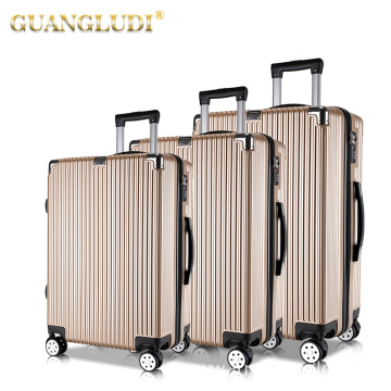 Factory wholesale abs pc travel luggage suitcase