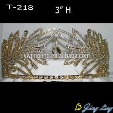 Rhinestone Gold Beauty Queen Crowns