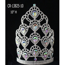 New Fashion AB Rhinestone Heart Pageant Crowns