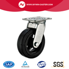 8'' Swivel Heavy Duty Black Rubber Industrial Caster with Iron Core