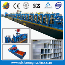 Welded tube mill round/square pipe making machine