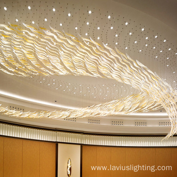 Professional customized auditorium lobby crystal chandelier