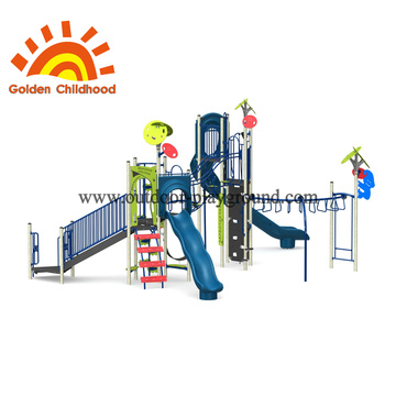 Green Leave Outdoor Playground Equipment For Children