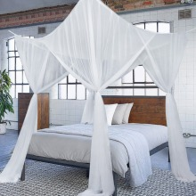 100% Cotton Moustiquaire Canopy White Black Purple Four Corner Post Home Canopy Bed Mosquito Net Netting Mosquito Net
