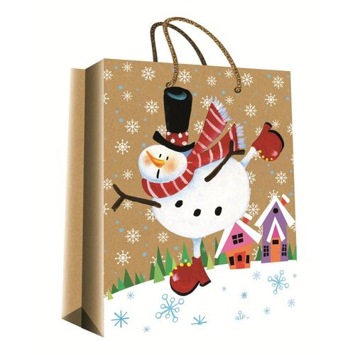 CHRISTMAS SERIES KRAFT GIFT BAG6-0