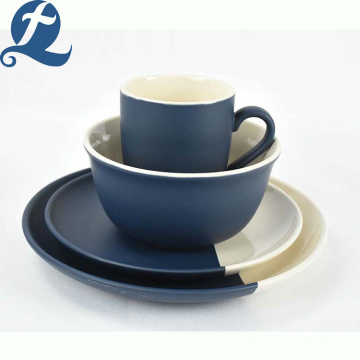 Hot selling custom modern splice color matte restaurant ceramic tableware set