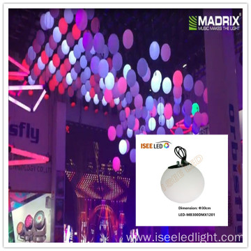 DMX LED 3d hanging ball for event