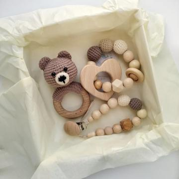 Hot Fashion Baby Gift Box Animal Teether Set