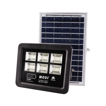 High brightness solar flood light with motion sensor