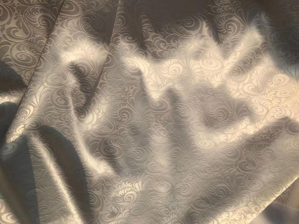 emboss satin dyed solid printing fabric