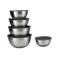 Stainless Steel Mixing Bowl Set Non-slip
