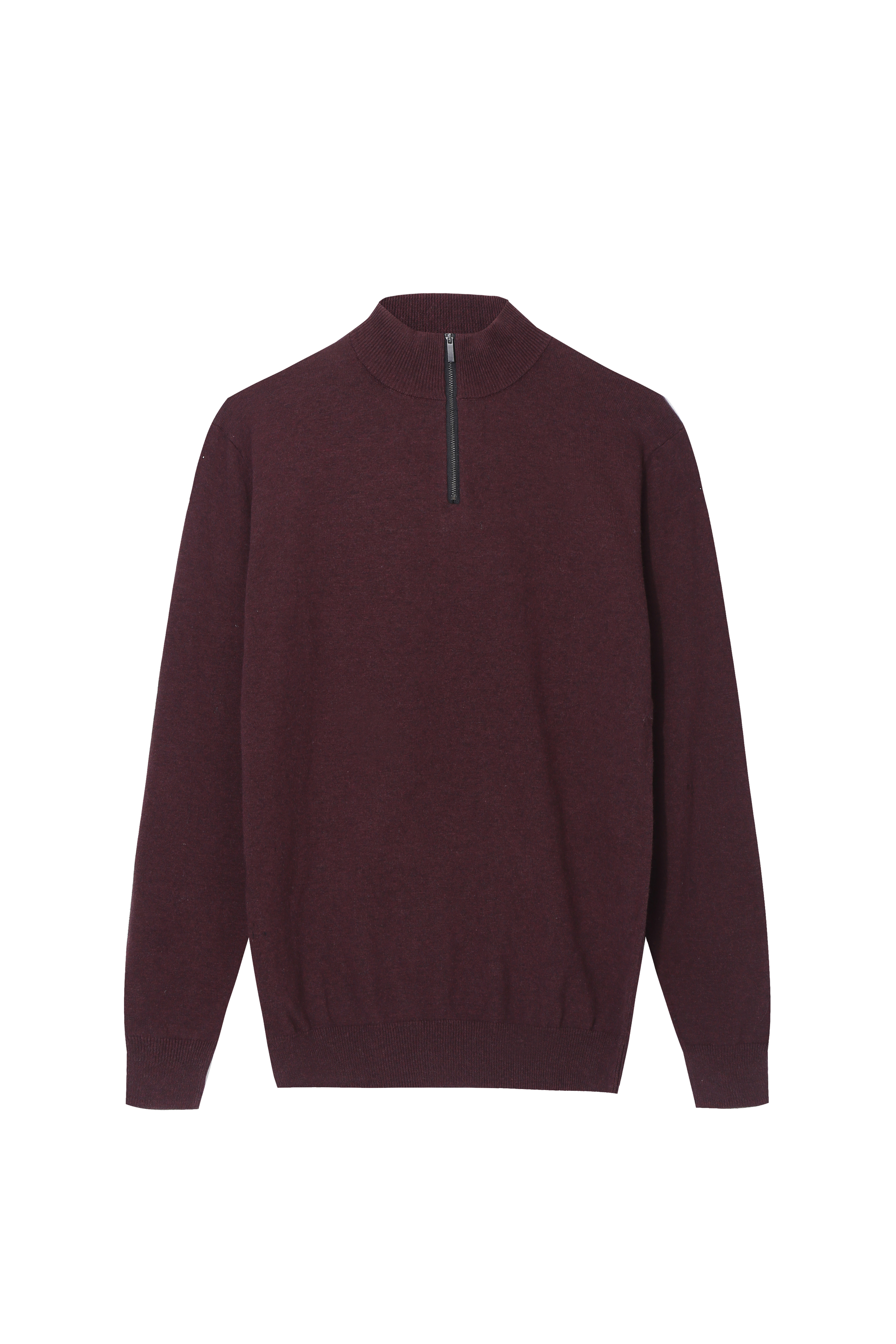Men's Basic Quarter Zip Sweater Mock neck Pullover