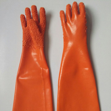 Orange grain long Anti-slip gloves 60cm