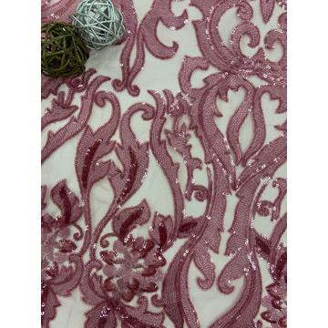 European Pop Shinny Pink-Series Embroidery Fabric
