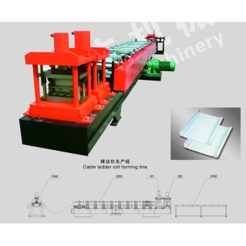 Steel Galvanized Perforated Cable Ladder Roll Forming Machine